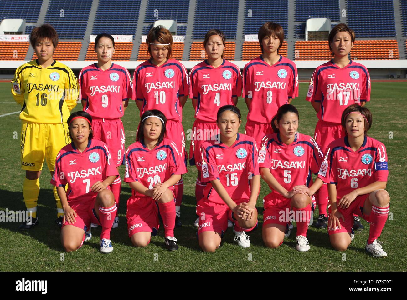 TASAKI y FC Tasaki Perule team group line up NOVEMBER 23 2008 Football 2008 NADESHIKO League Division 1 between - Stock Image