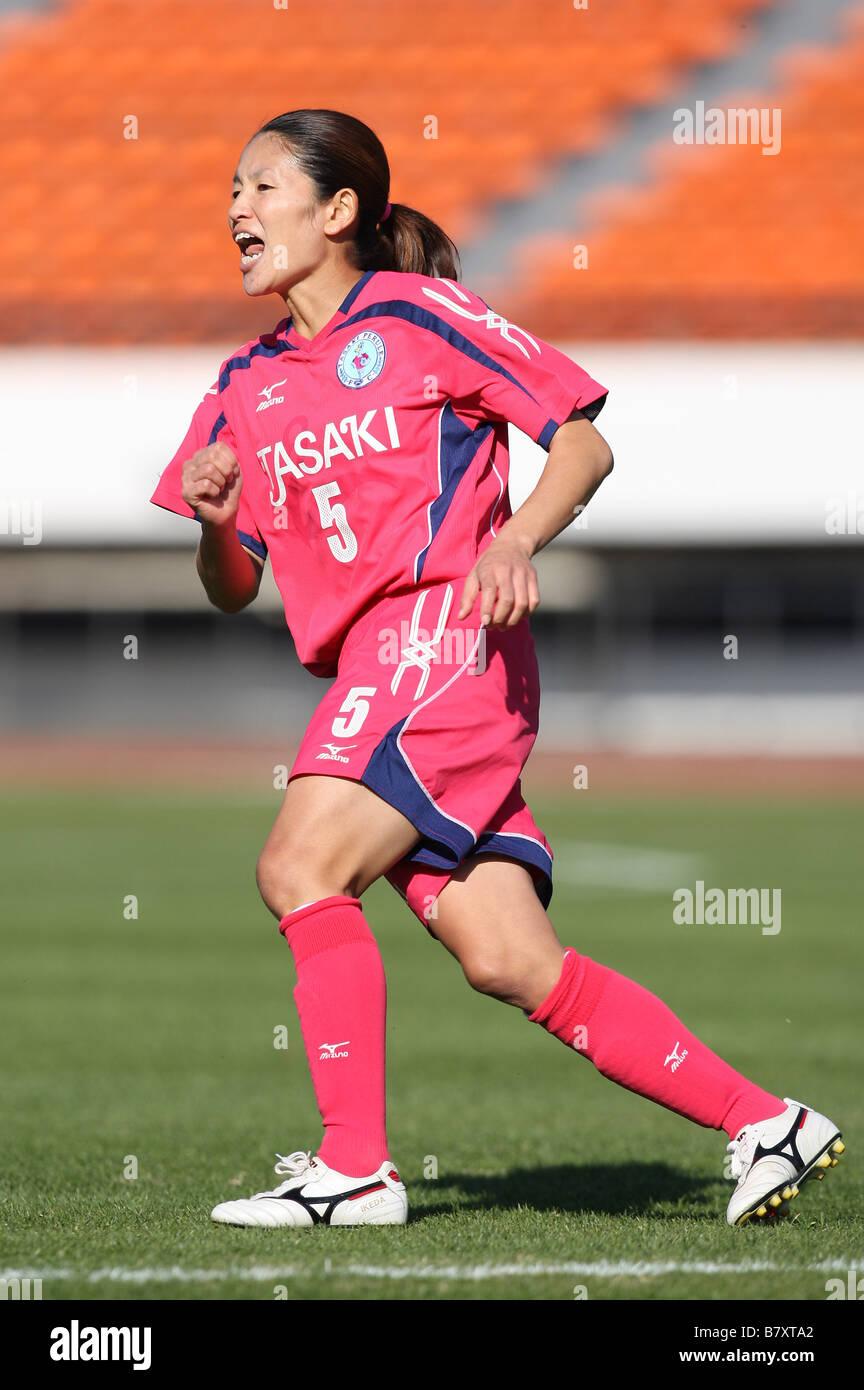 r c ü Hiromi Ikeda Perule NOVEMBER 23 2008 Football 2008 NADESHIKO League Division 1 between NTV Beleza 4 1 - Stock Image