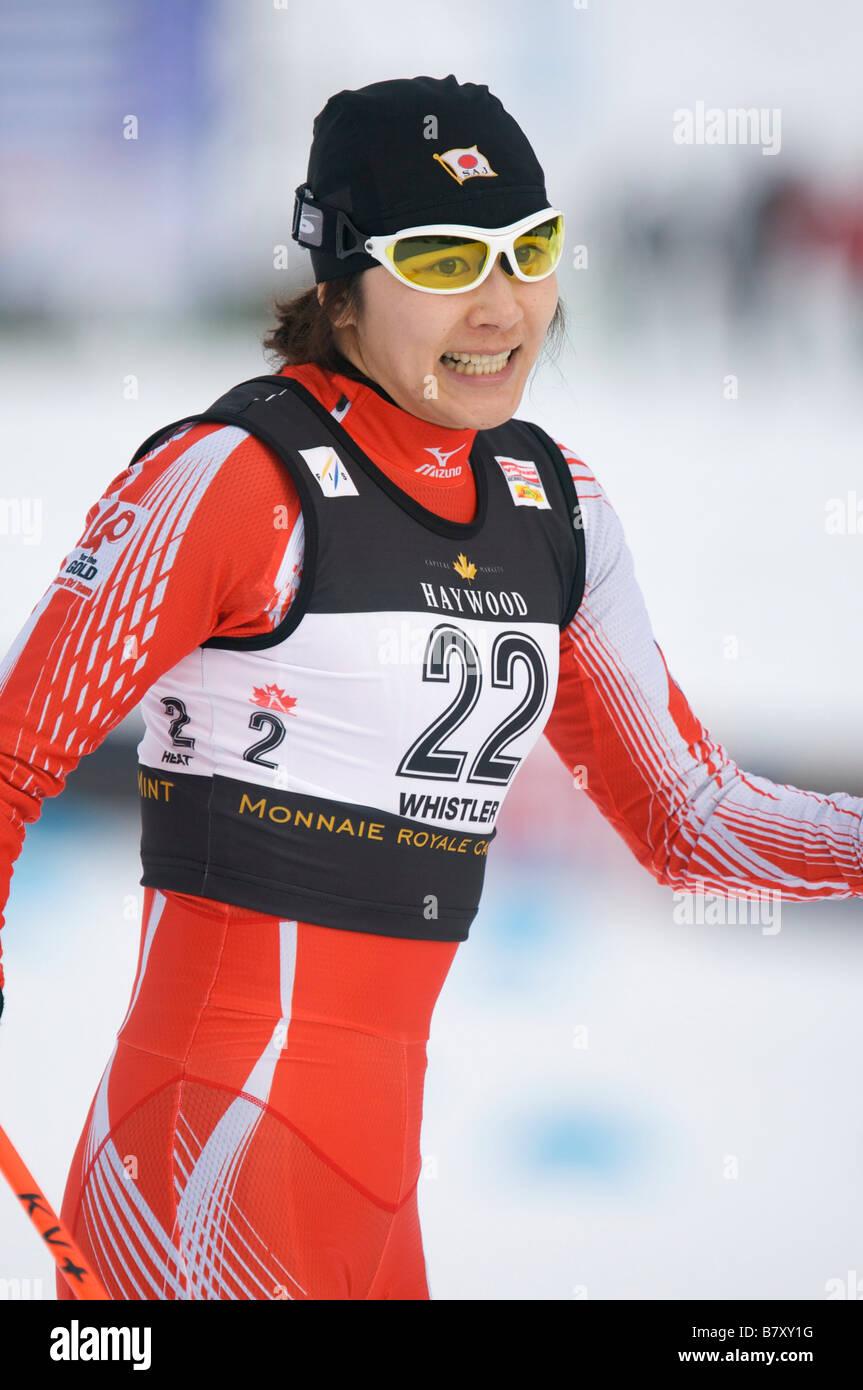 Madoka Natsumi JPN JANUARY 16 2008 Cross Country Skiing VIESSMANN FIS Cross Country World Cup Ladies 1 3km Classic - Stock Image
