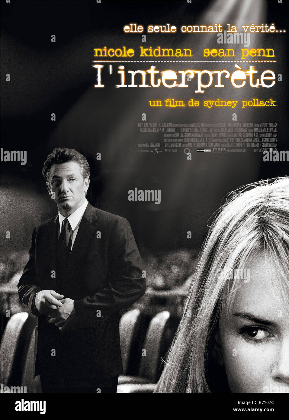 The interpreter Year: 2005 USA / UK  Director: Sydney Pollack Movie poster (Fr) - Stock Image