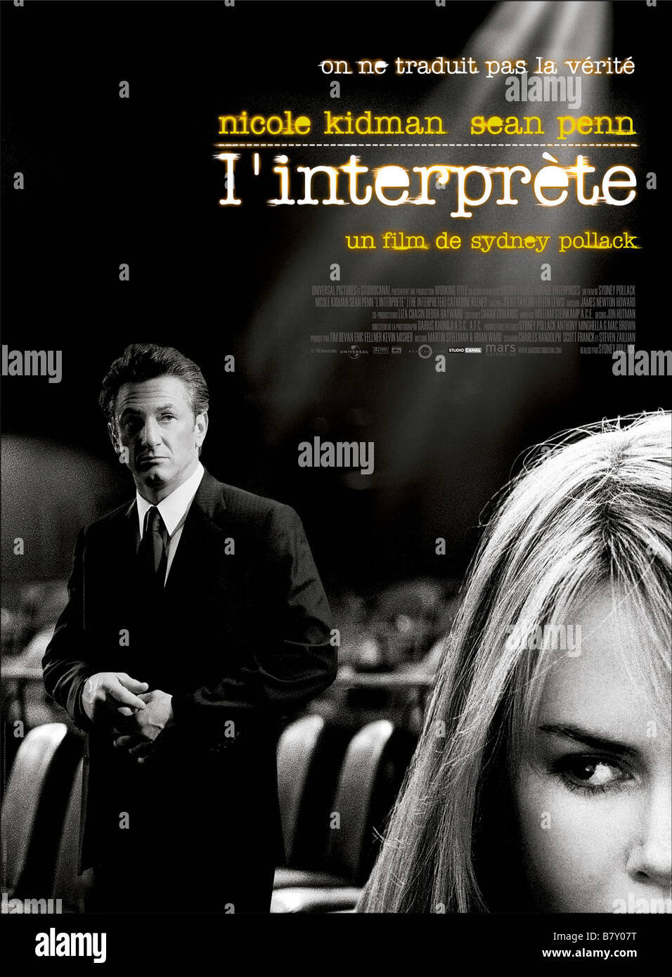 The interpreter Year: 2005 USA / UK affiche, poster  Director: Sydney Pollack - Stock Image