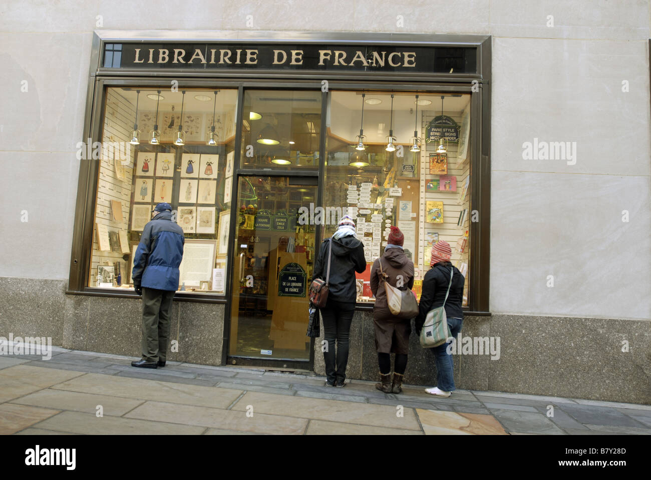 The Librairie de France in Rockefeller Center in New York Stock Photo