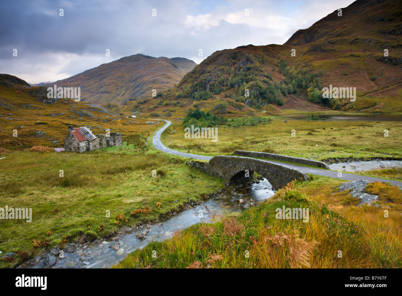 Abandoned Cottage Near Kinloch Hourn In The Scottish