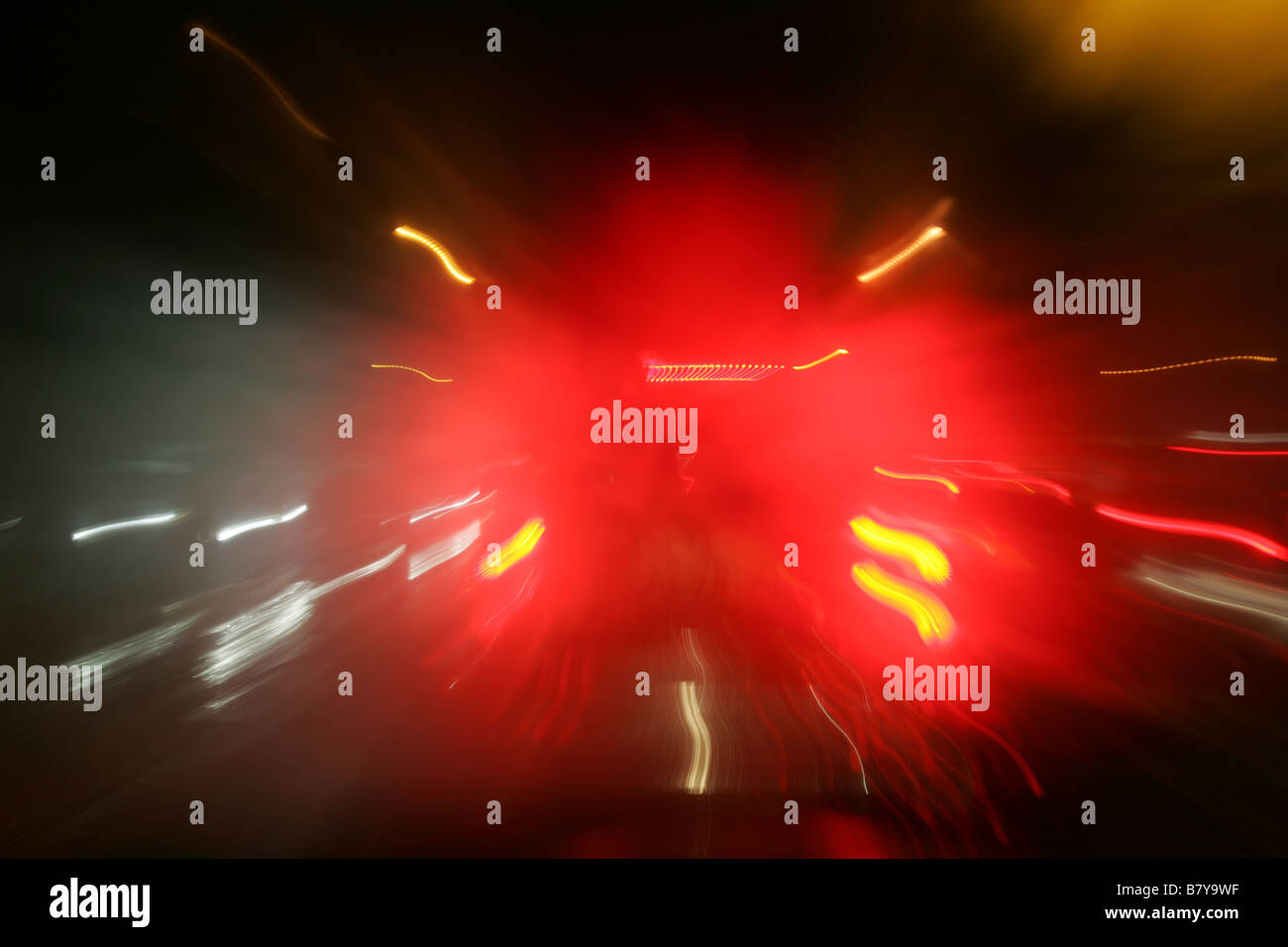 Traffic tail lights - Stock Image