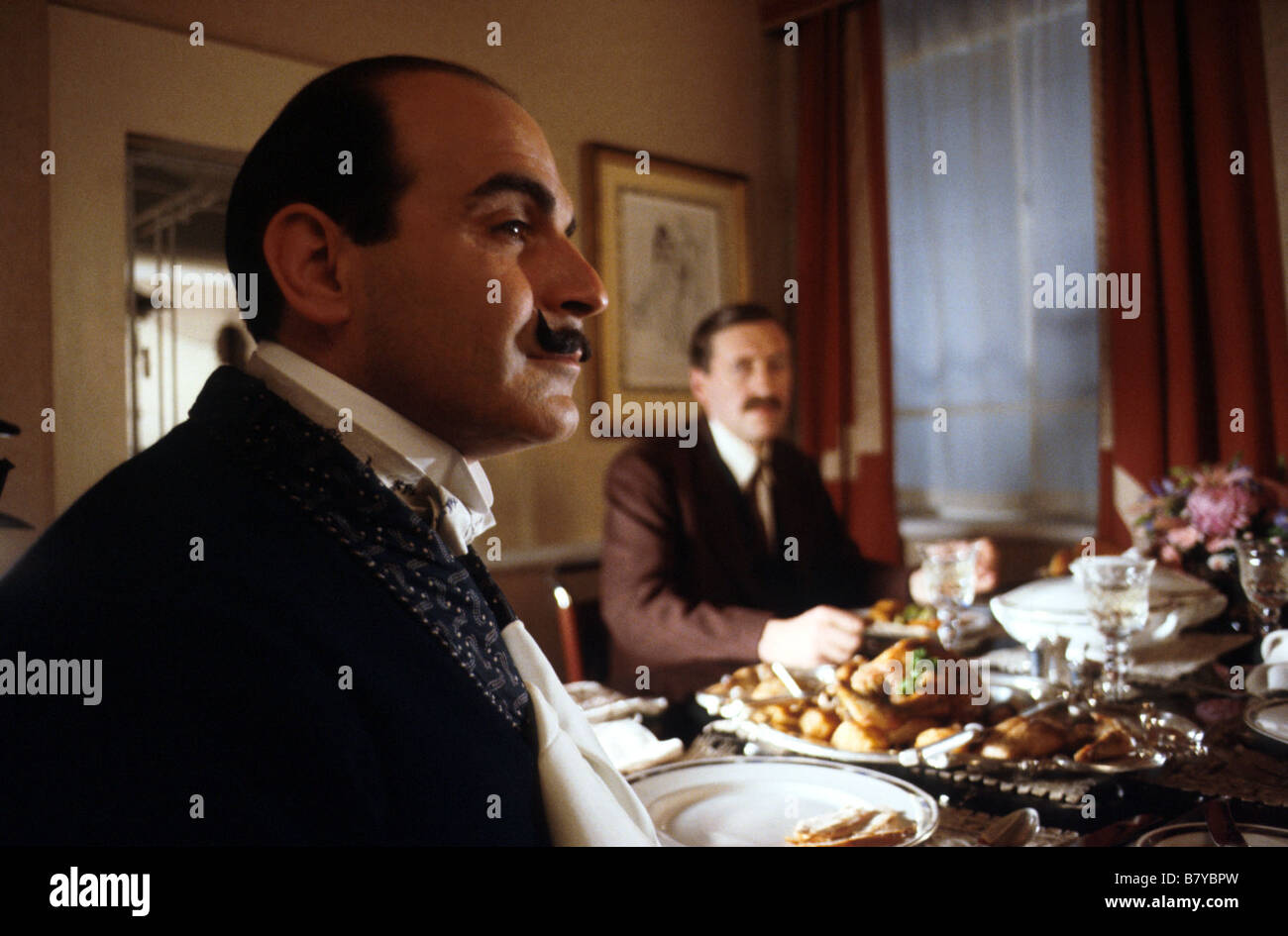 hercule poirot  Year: série tv -  Hercule Poirot  Year: TV-Series -  David Suchet - Stock Image