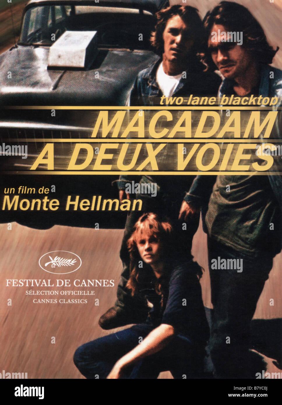 Two-Lane Blacktop  Year: 1971 USA Director: Monte Hellman Movie poster (Fr) - Stock Image