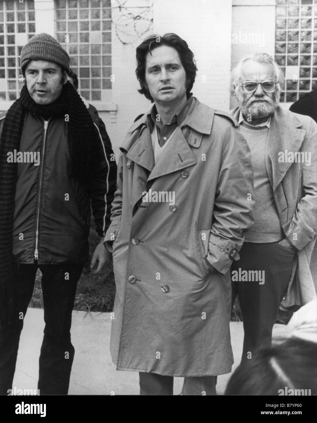 Milos Forman, Michael Douglas on the set  One Flew Over the Cuckoo's Nest  Year: 1975 USA Director: Milos Forman - Stock Image