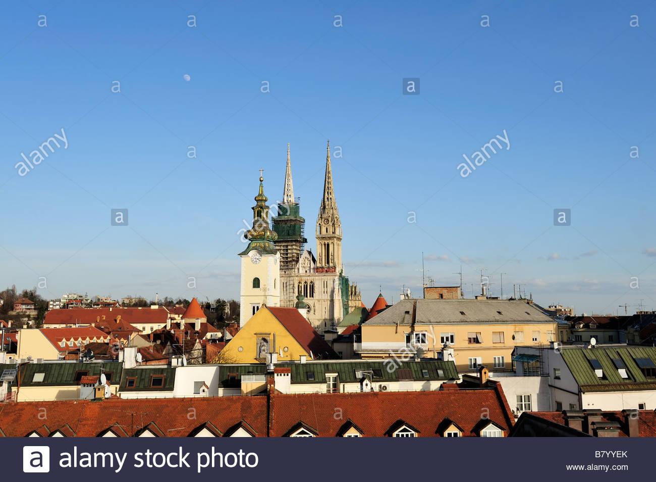 St Stephen cathedral Zagreb Croatia Stock Photo