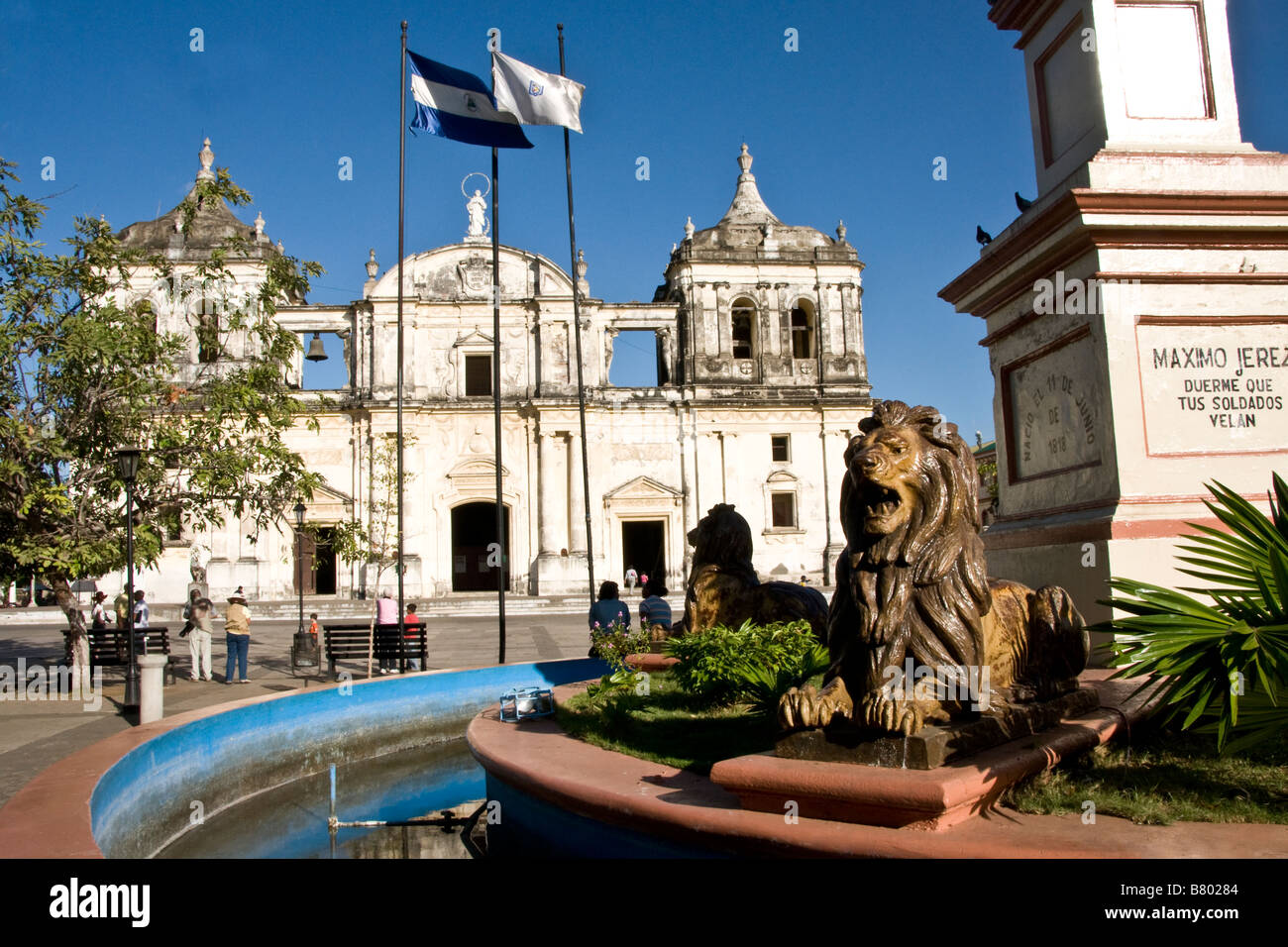 Leon Cathedral, Spanish colonial architecture - Stock Image
