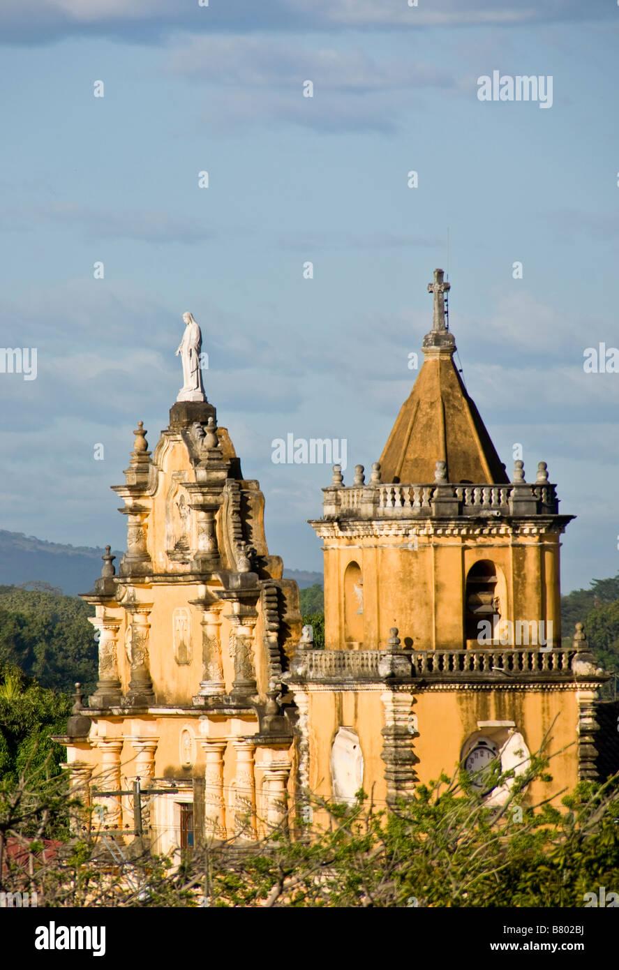 Leon's Church of the Recollection (Iglesias de la Recoleccion), Spanish colonial architecture - Stock Image