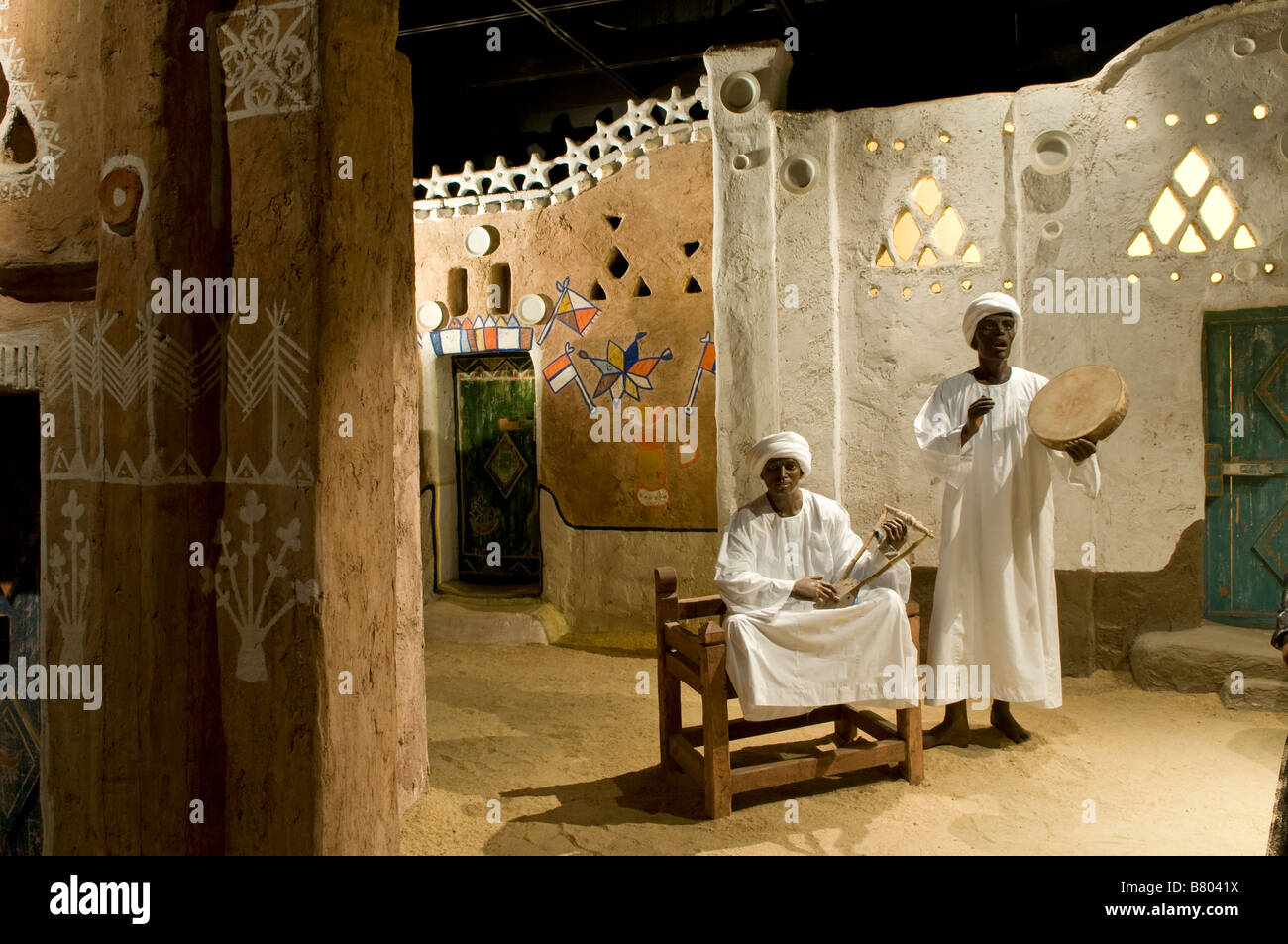 A Nubian ethnography exhibition inside the International Museum of Nubia in the city of Aswan in Egypt - Stock Image