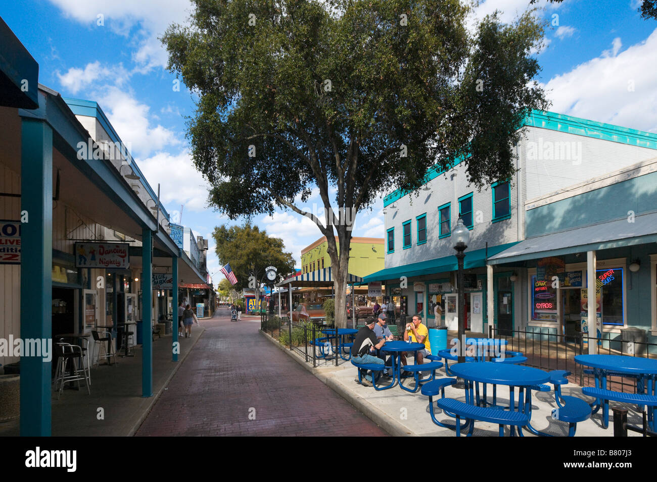 Outdoor Cafe On Main Street In Old Town Kissimmee Us 192