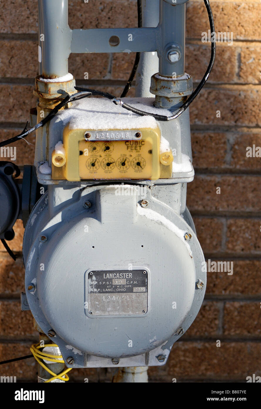 Home Natural Gas Meter Stock Photos Electrical Wiring Residential Usa A Sits Next To Oklahoma City