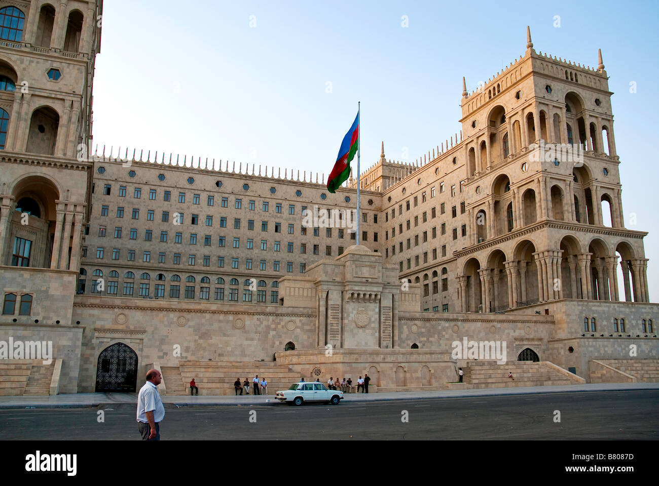 government house central baku azerbaijan - Stock Image