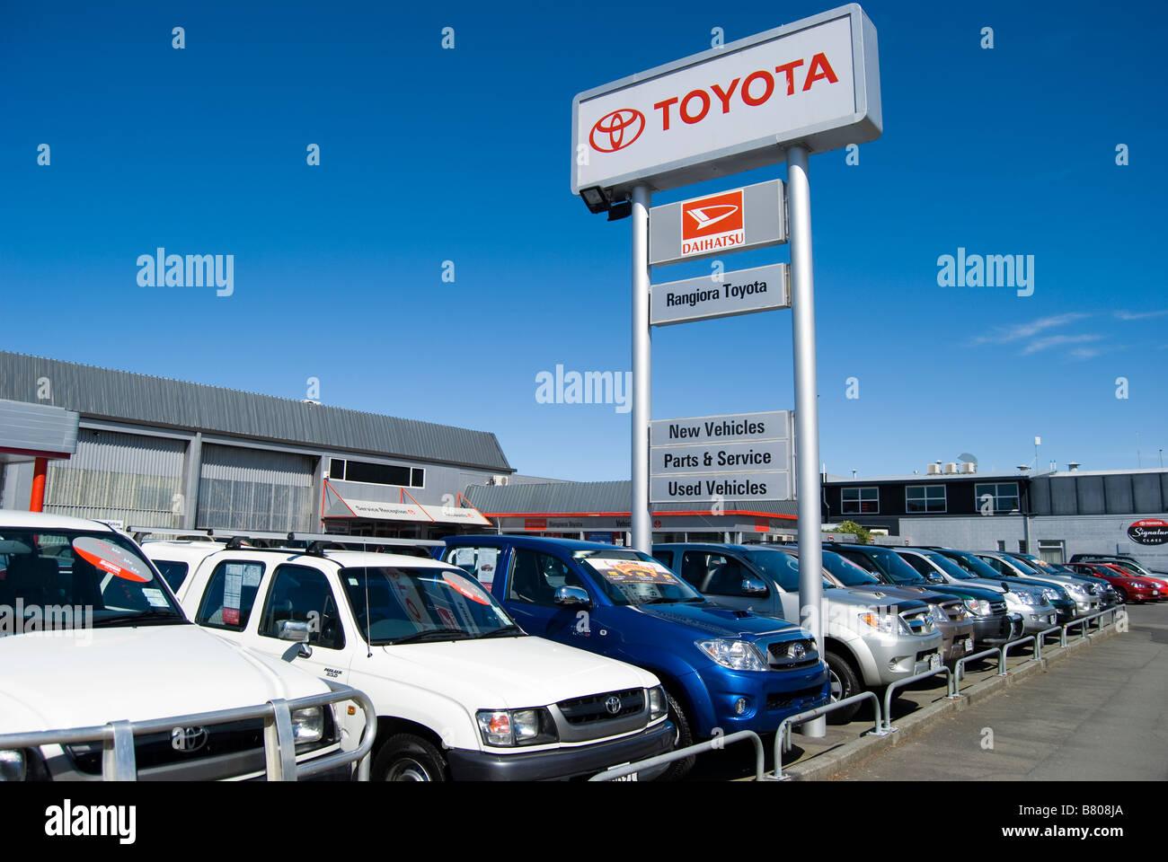Rangiora Toyota Car Dealers, Percival Street, Rangiora, Waimakariri District, Canterbury, New Zealand - Stock Image