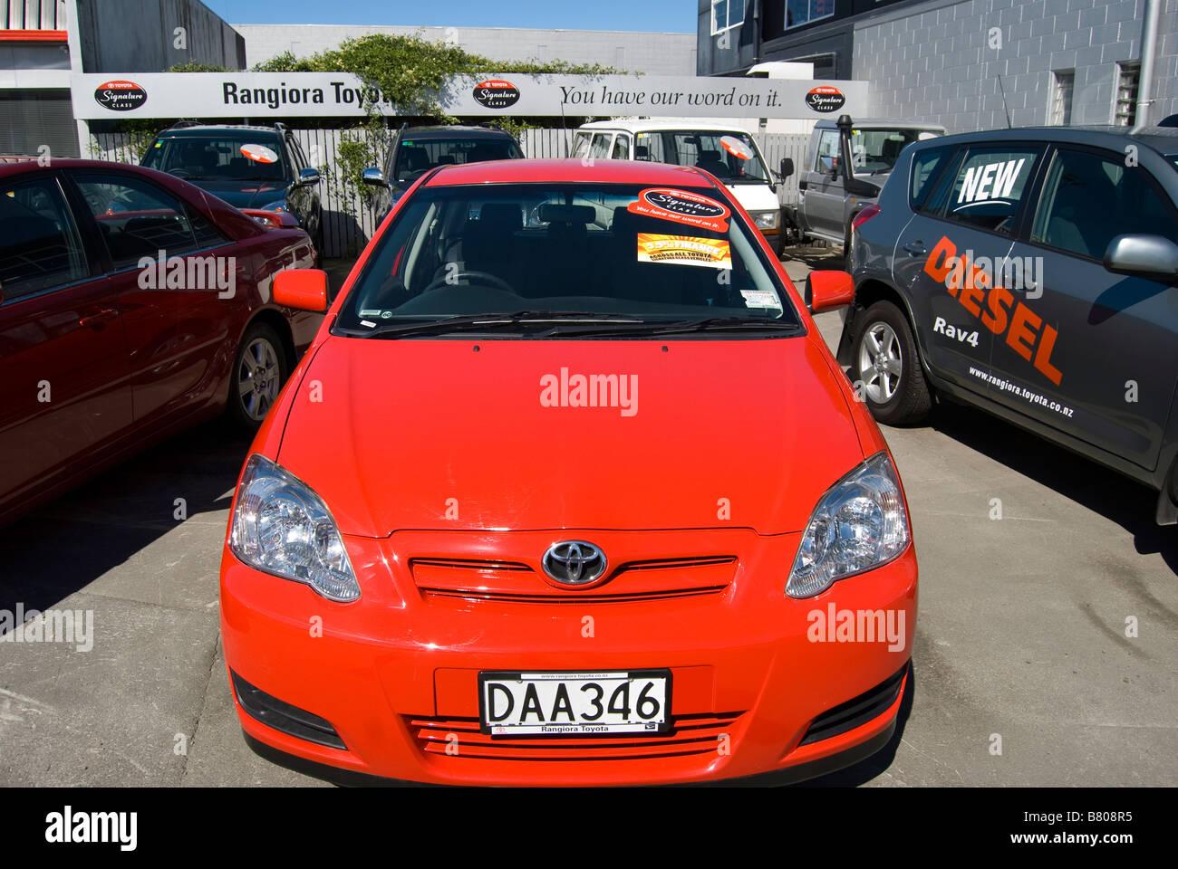 Rangiora Toyota Car Dealers, Rangiora, Waimakariri District, Canterbury, New Zealand - Stock Image
