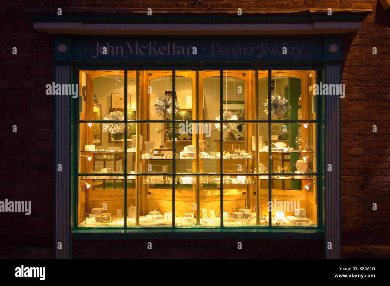 Jeweller Shop window Hereford Herefordshire England United Kingdom - Stock Image