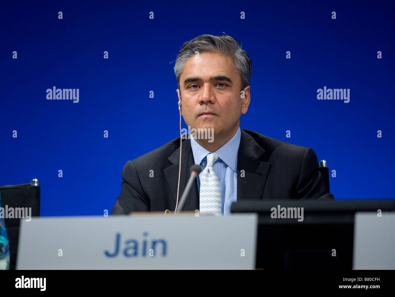 Anshu Jain during annual press conference of the Deutsche Bank AG - Stock Image