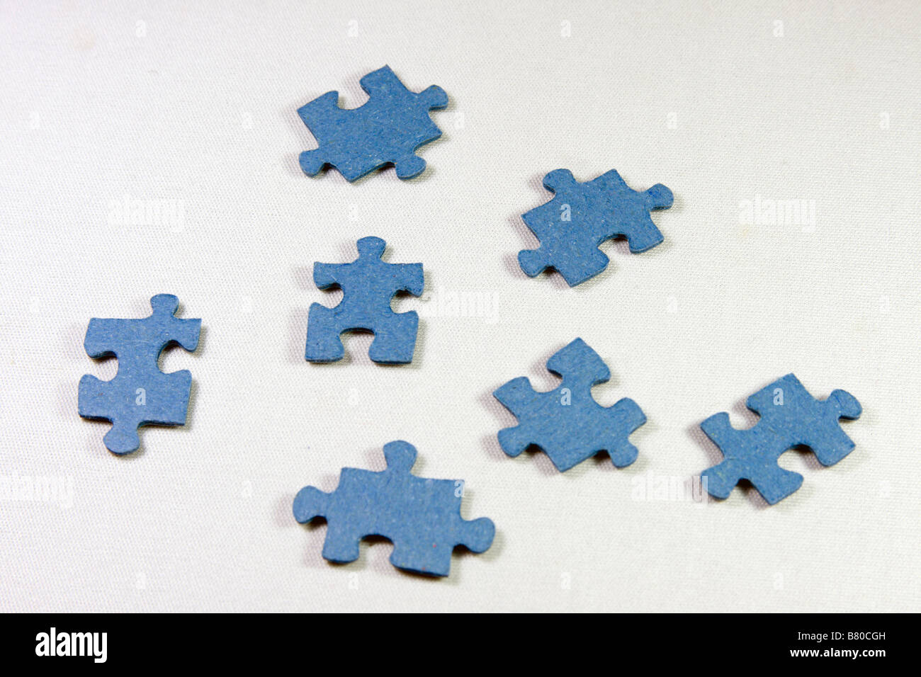 Blue pieces of puzzle. - Stock Image
