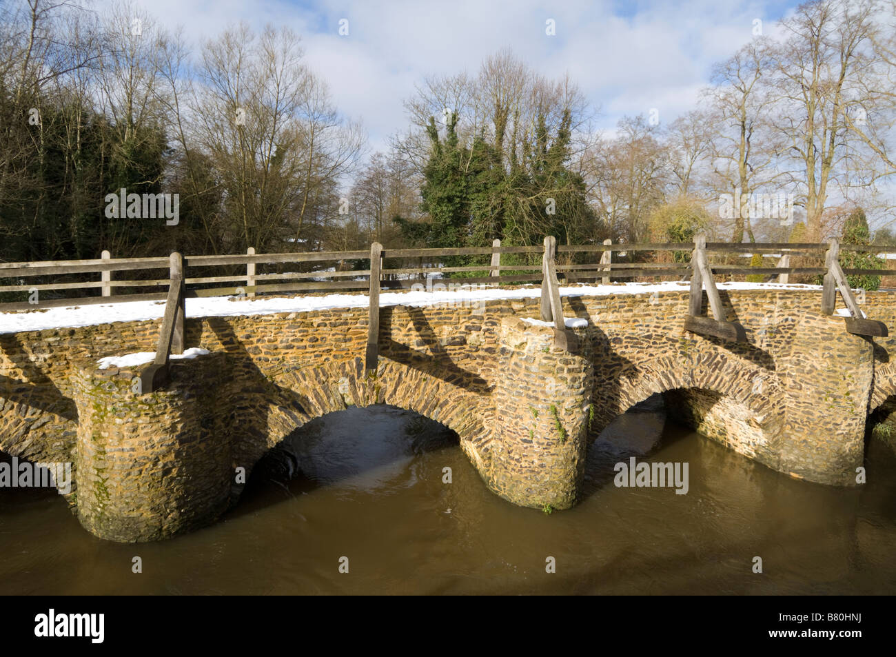 Tilford Bridge Surrey UK - Stock Image
