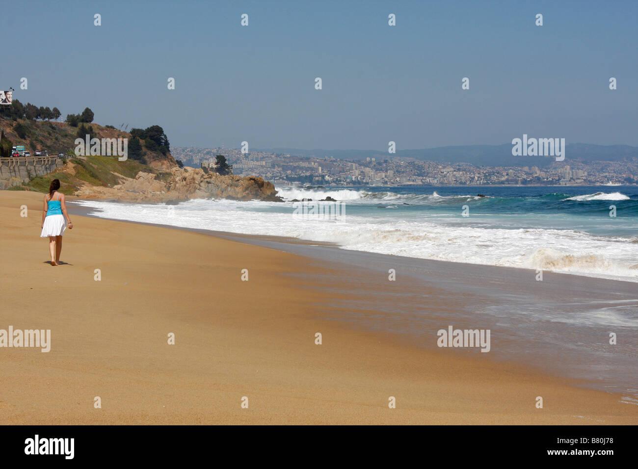 Viña del Mar Chile South America - Stock Image