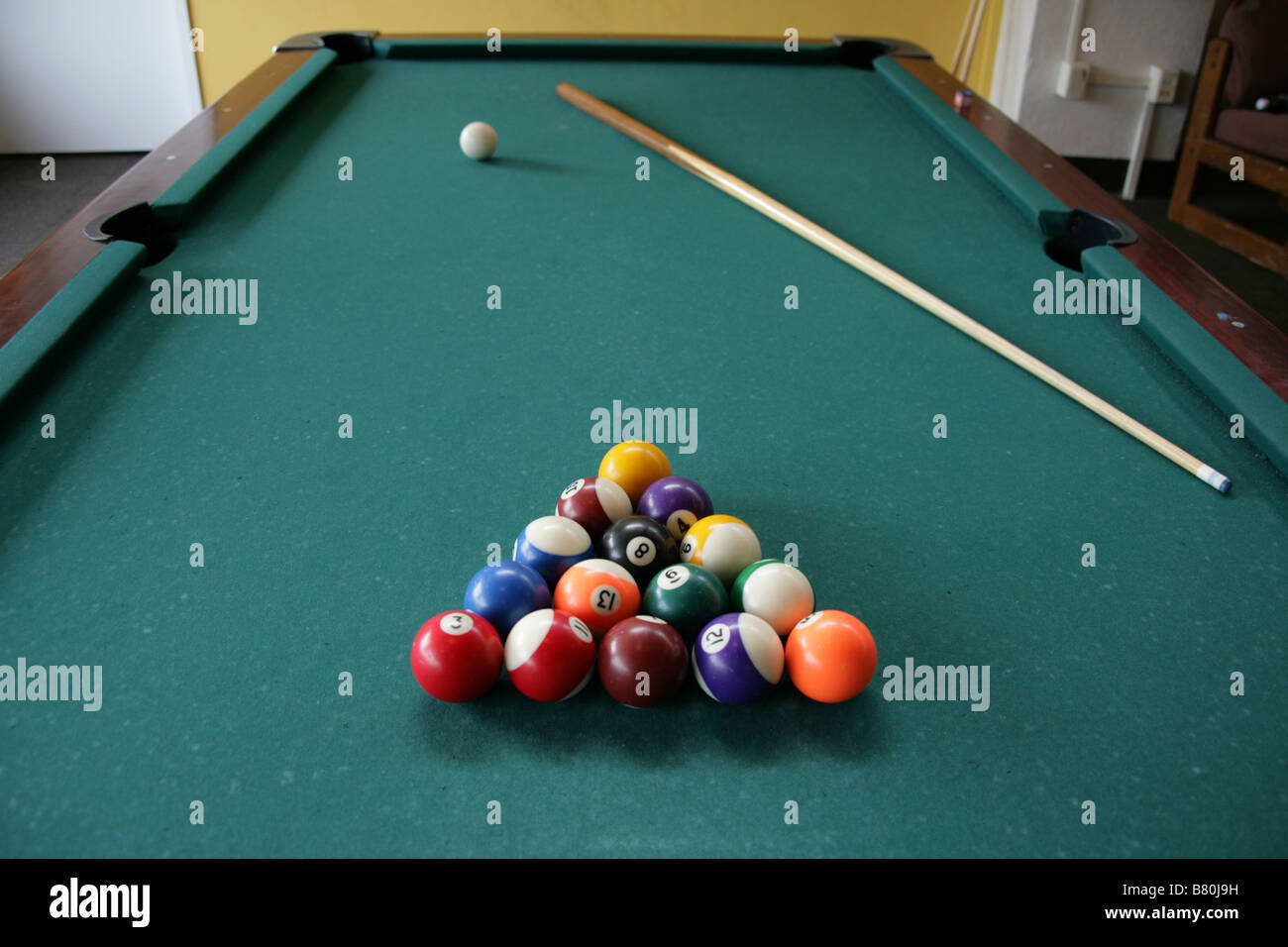 Pool Table Setup >> Pool Table Set Up For A Game Stock Photo 22141997 Alamy