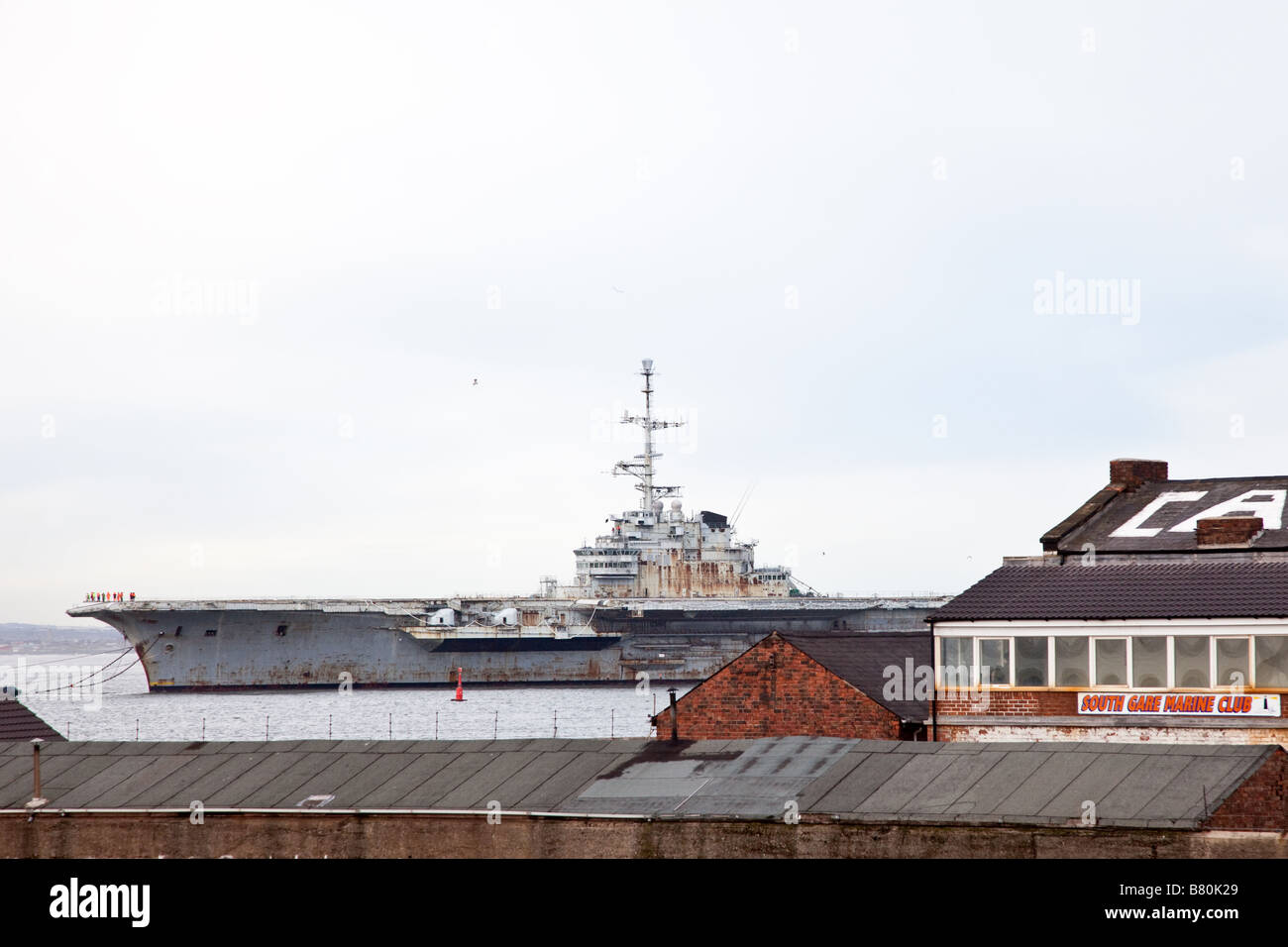 French Aircraft Carrier Clemenceau - Stock Image