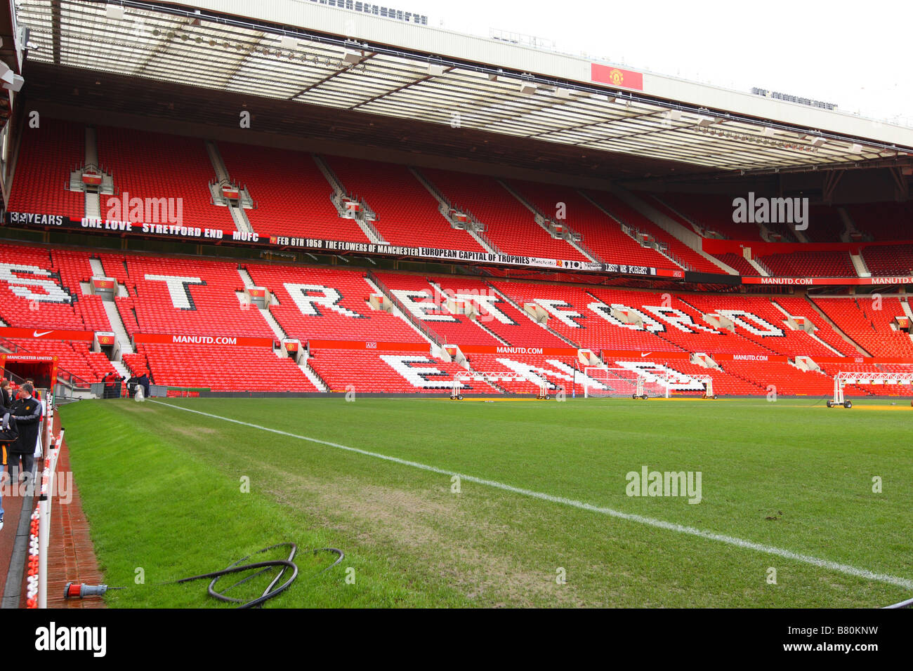 Manchester United Football Ground, Old Trafford - Stock Image