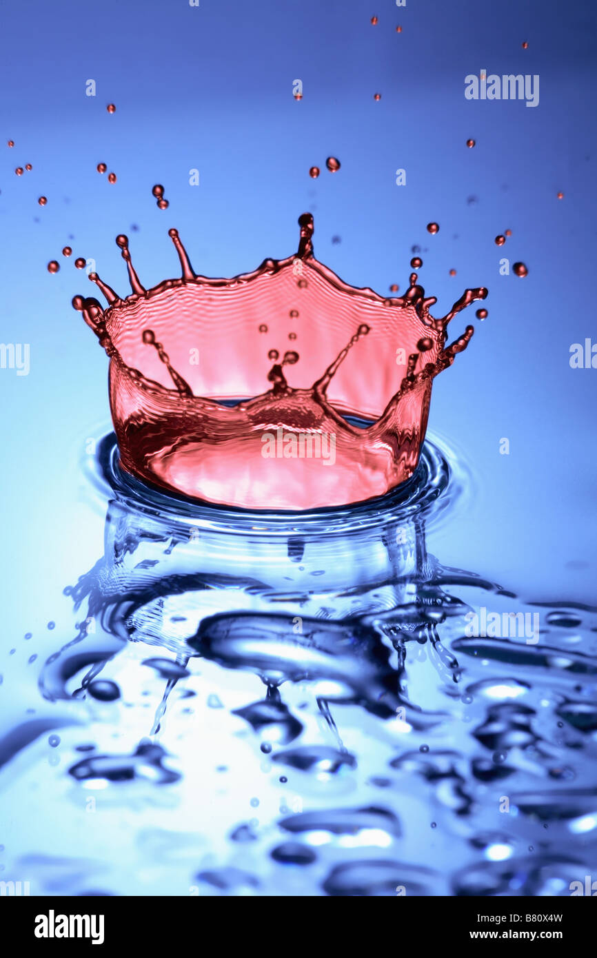 A Drip of Water Making a Splash. - Stock Image
