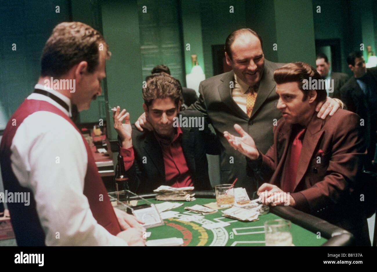 The Sopranos   TV-Series 1999-2007 USA 2004 Season 5  Created by David Chase Michael Imperioli, James Gandolfini, - Stock Image