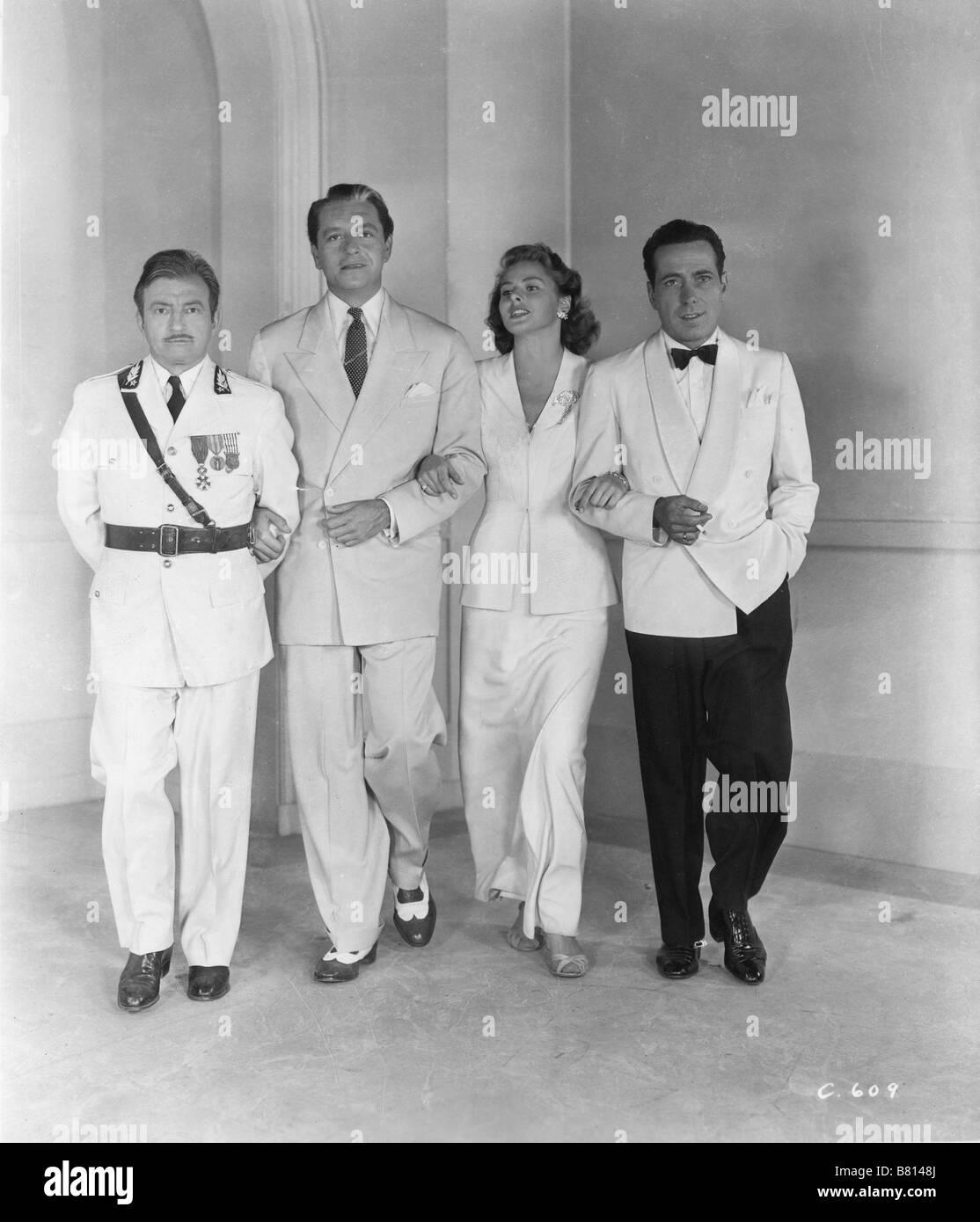 Casablanca  Year : 1942 USA Humphrey Bogart, Ingrid Bergman, Paul Henreid, Claude Rains  Director: Michael Curtiz - Stock Image
