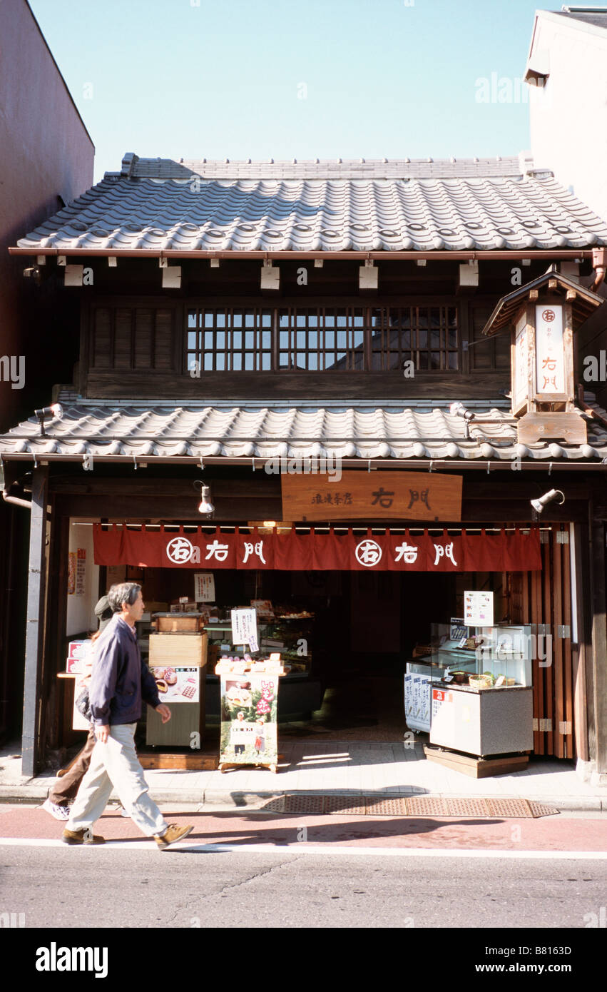 Nov 24, 2004 - Traditional wooden house from the Edo period in Kawagoe Little Edo, North of Tokyo. - Stock Image