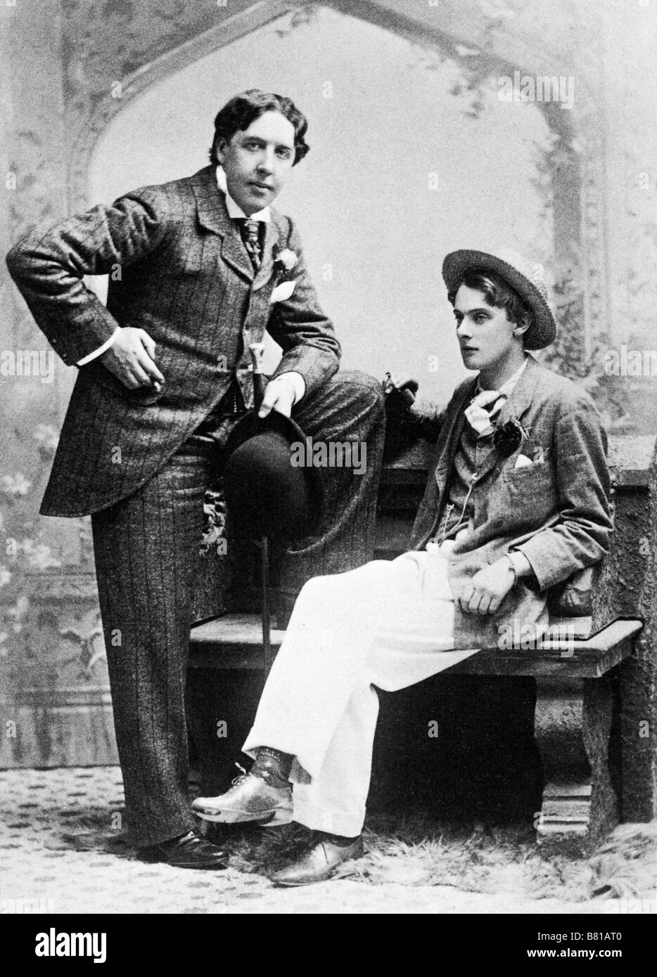 Oscar Wilde and Bosie 1893 portrait of the Irish dramatist and wit Stock Photo - Alamy