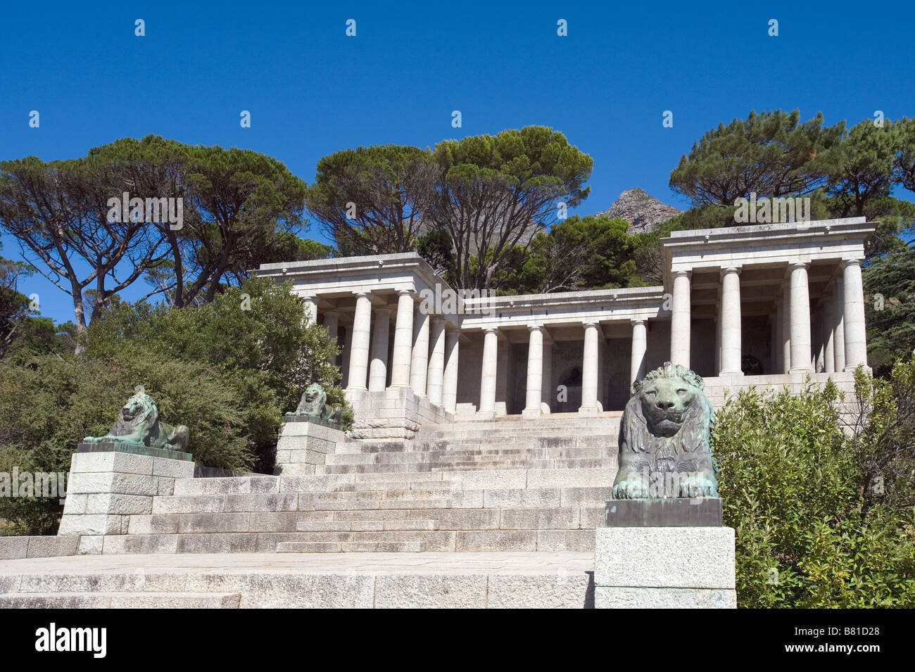 Rhodes Memorial Cape Town Western Cape -  Rhodes (1853-1902) was a businessman, mining magnate and politician Stock Photo