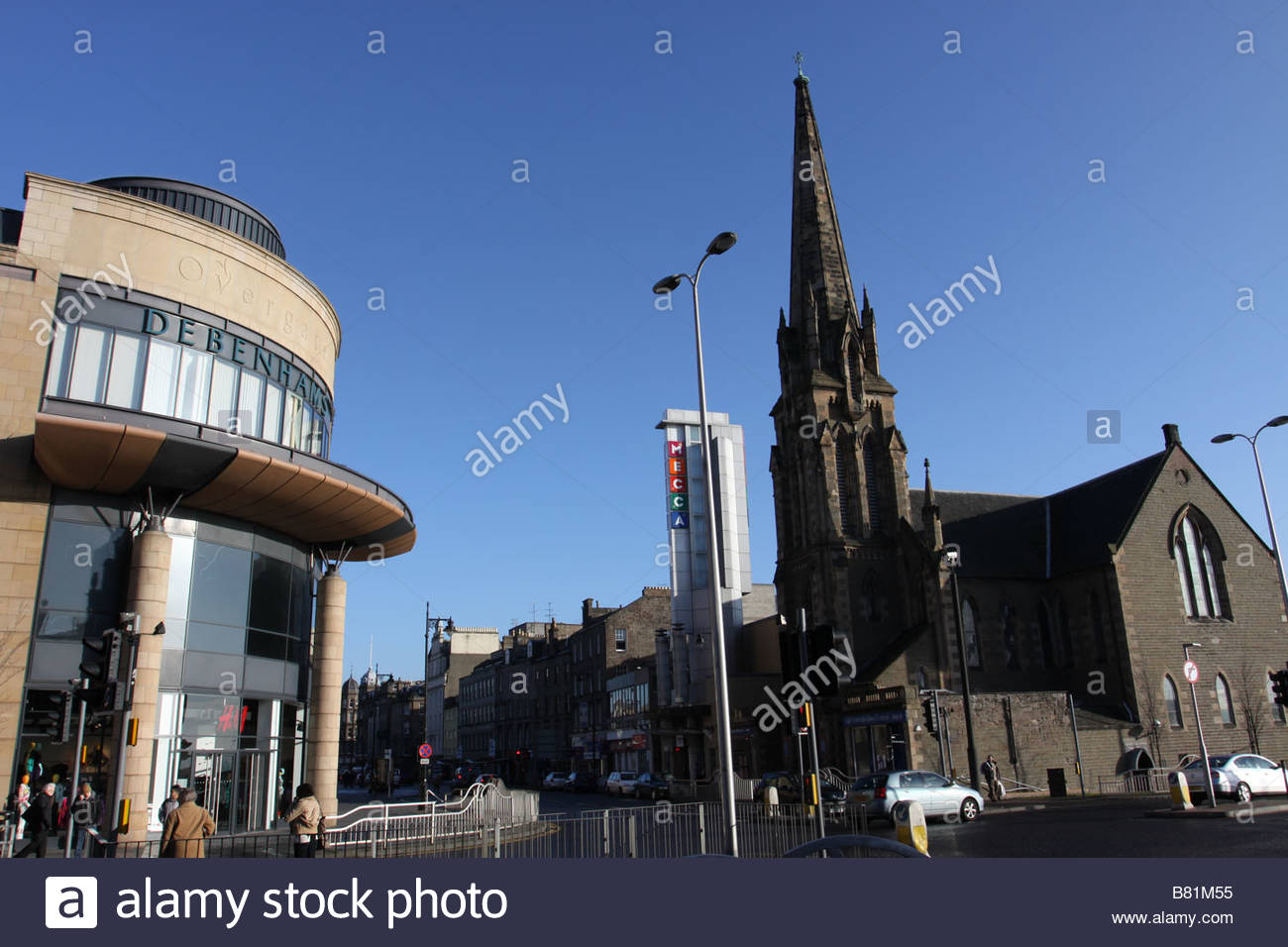 Overgate shopping Centre and Meadowside St Pauls Dundee Scotland  January 2009 - Stock Image