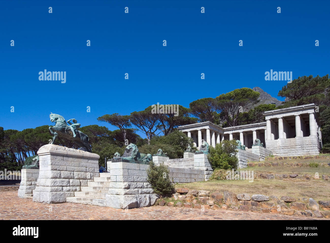 Rhodes Memorial Cape Town Western Cape -  Rhodes (1853-1902) was a businessman, mining magnate and politician - Stock Image