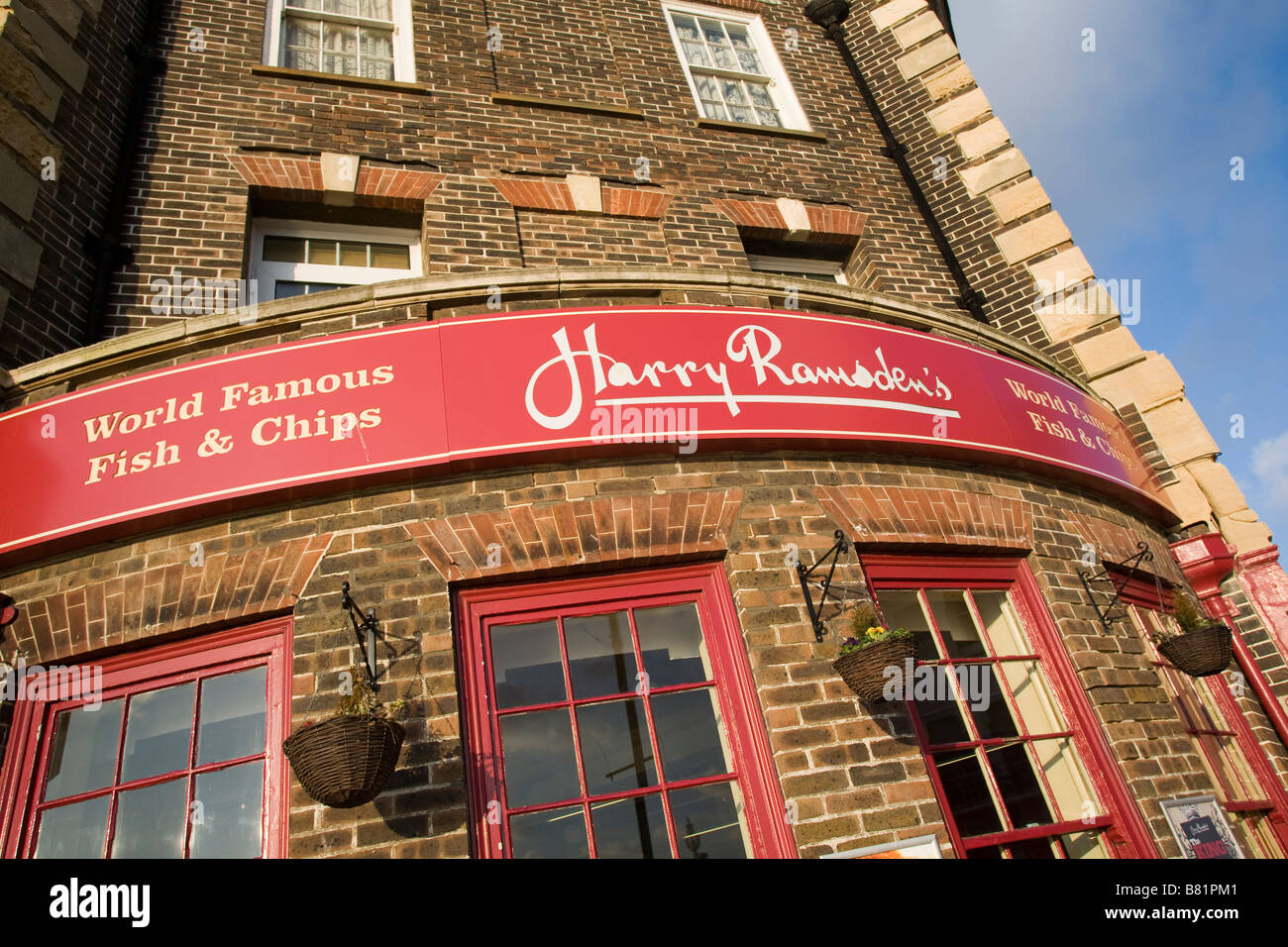 Exterior Harry Ramsden Fish Bar Eastbourne East Sussex GB Stock Photo