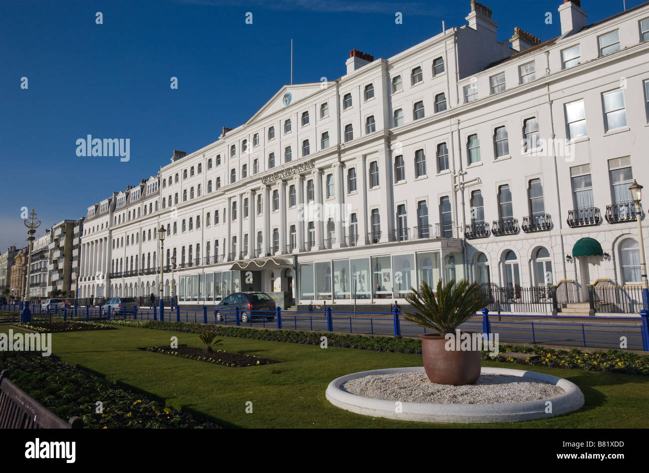 The Burlington Hotel Grand Parade and seafront gardens in