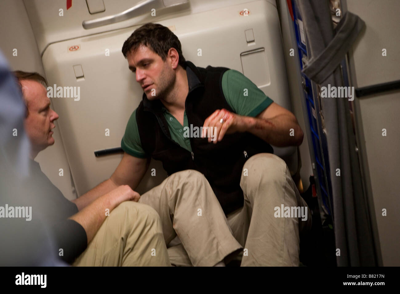 United 93  Year 2006 USA Christian Clemenson, Peter Hermann  Director: Paul Greengrass - Stock Image