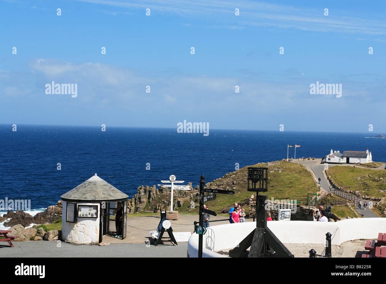 View over Land s End Penwith Peninsula Cornwall England United Kingdom - Stock Image