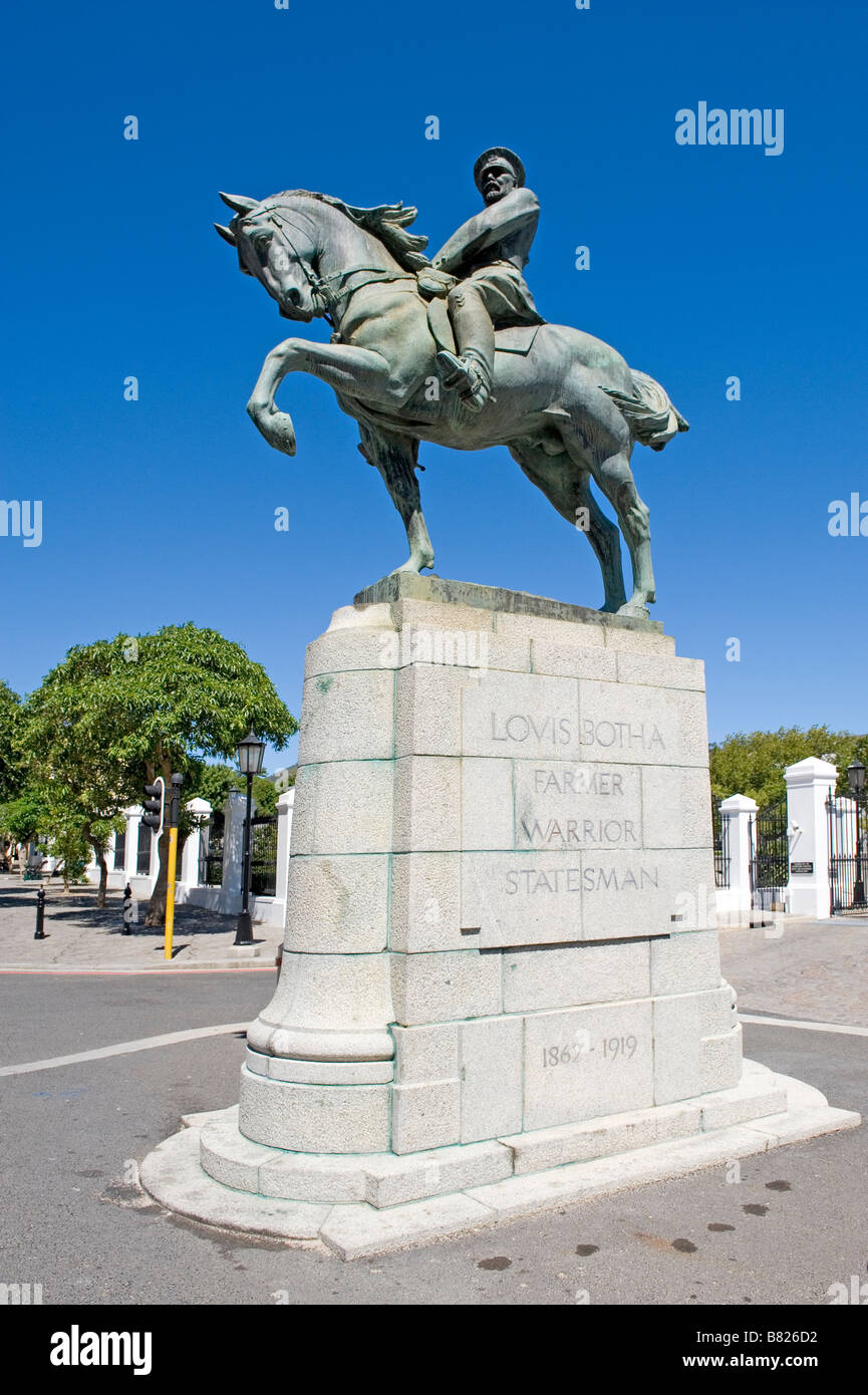 Louis Botha 91862-1919) Monument Cape Town First Prime Minister of the Union of South Africa Stock Photo