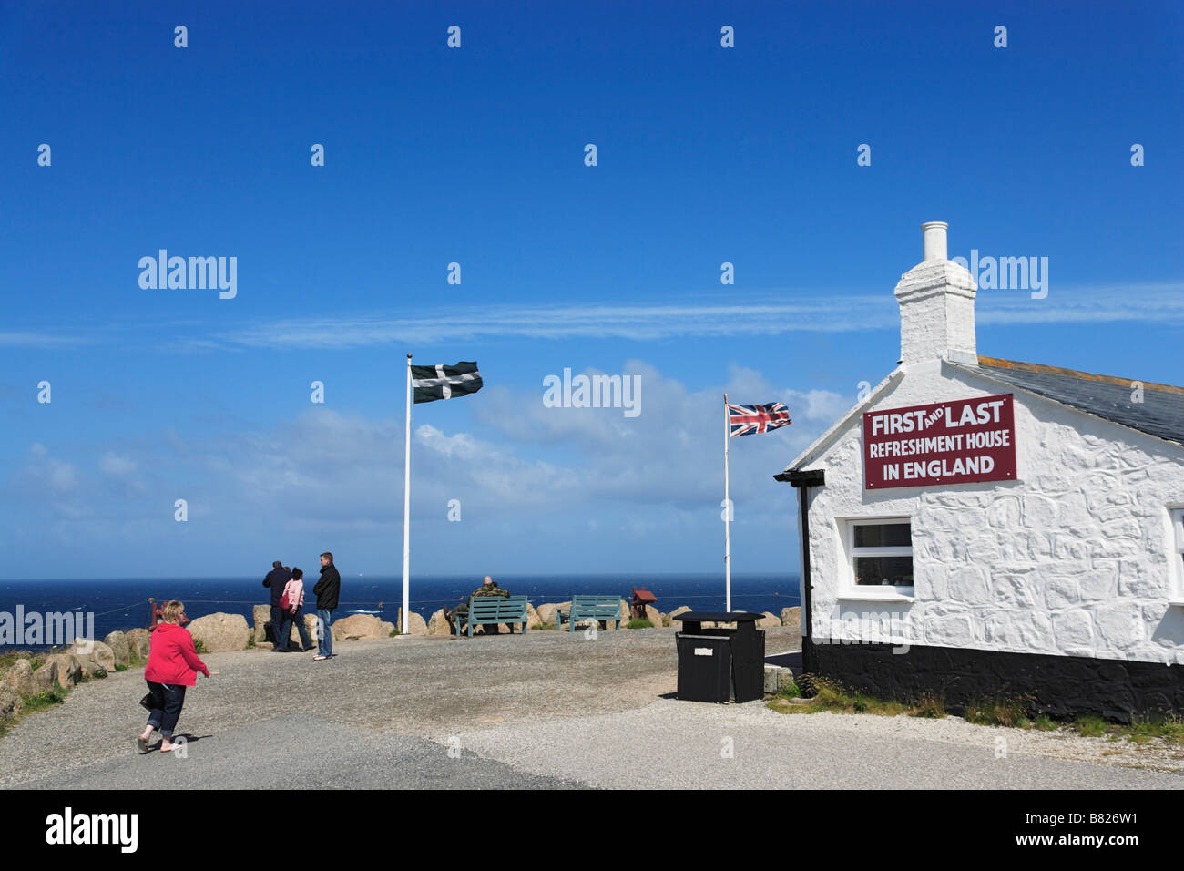 Land s End Penwith Peninsula Cornwall England United Kingdom - Stock Image