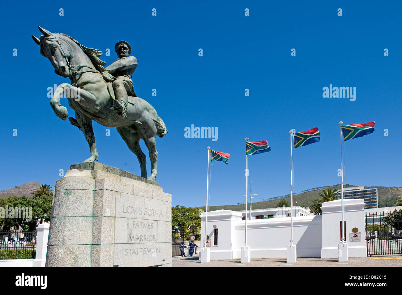 Louis Botha (1862-1919) Monument Cape Town First Prime Minister of the Union of South Africa - Stock Image