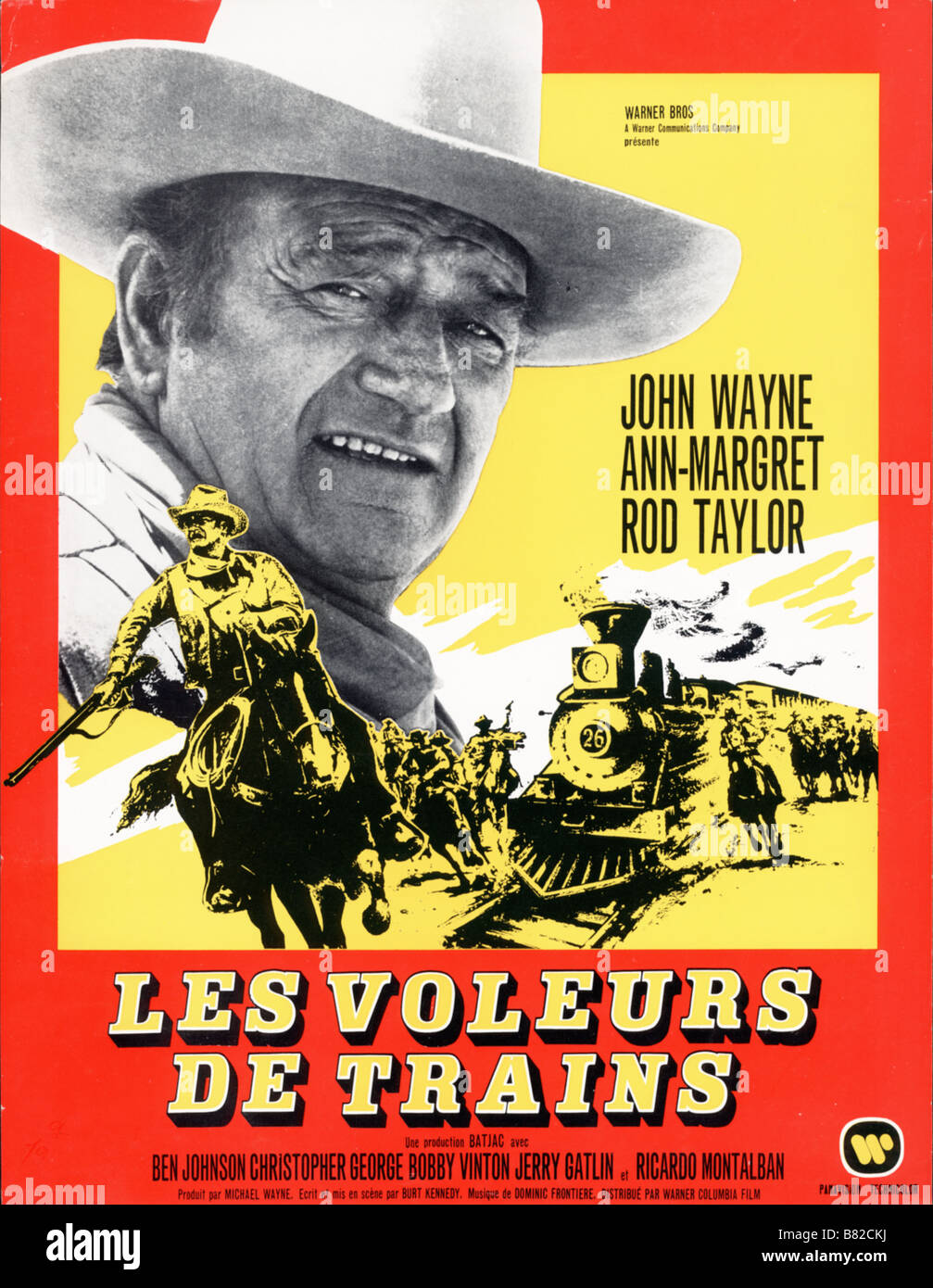 les voleurs de trains The Train Robbers  Year: 1973 USA John Wayne  Director: Burt Kennedy - Stock Image