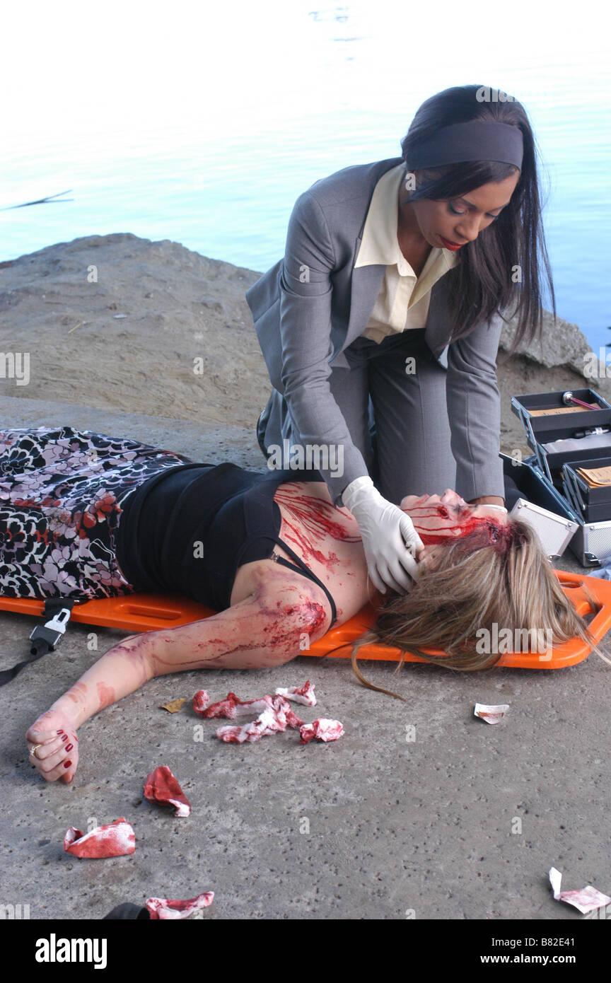 CSI: Miami  TV Series 2002-???? 2002 Season 1 - Ashes to Ashes Khandi Alexander  Director: Bryan Spicer Created - Stock Image