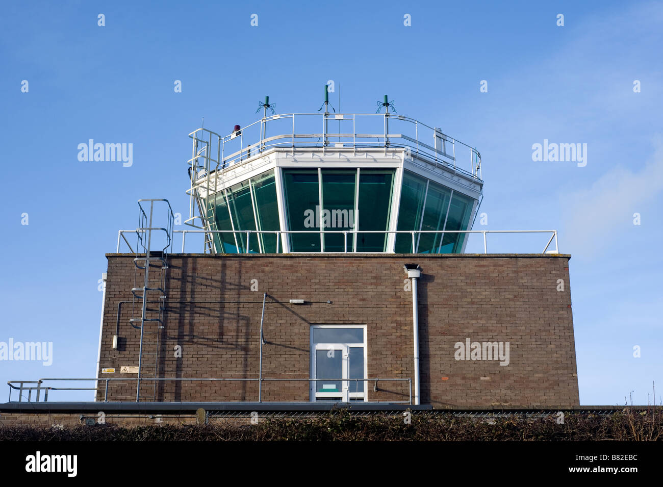 Air Traffic Control Tower (ATC), RAF Colerne, Wiltshire - Stock Image