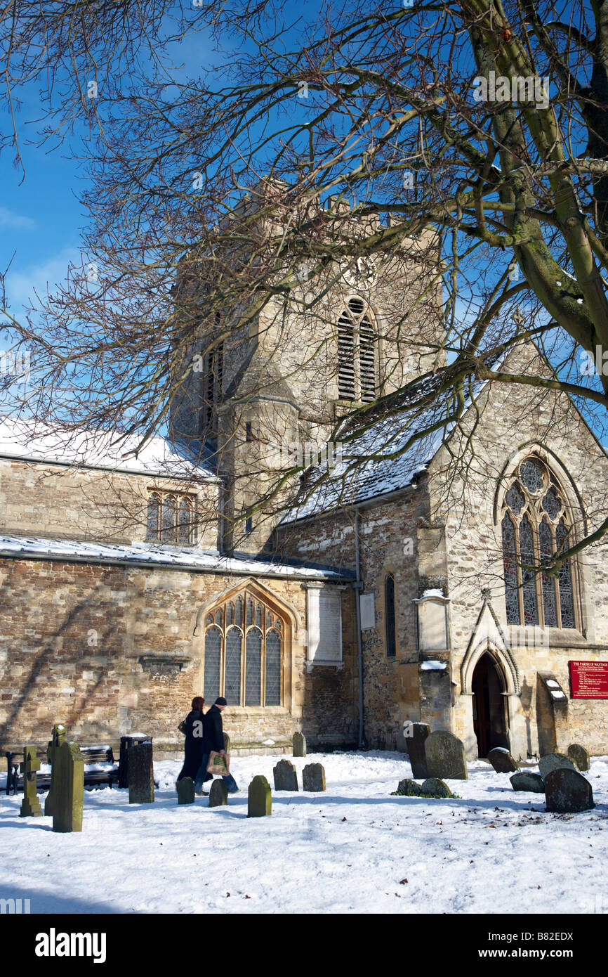 St Peter and Saint Paul chuch, Wantage. UK - Stock Image