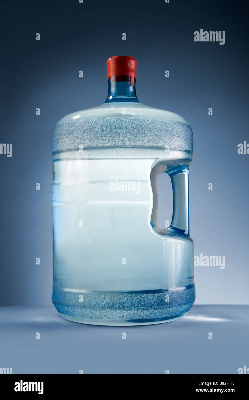 A 5 gallon water jug of Spring or purified water from a commercial business - Stock Image