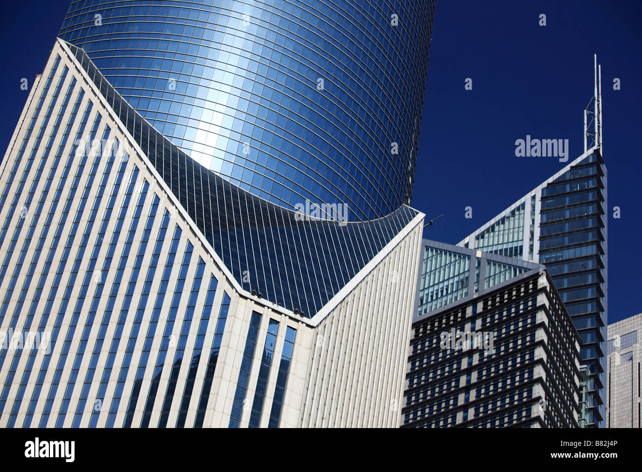 Detail office block Central Shanghai China - Stock Image