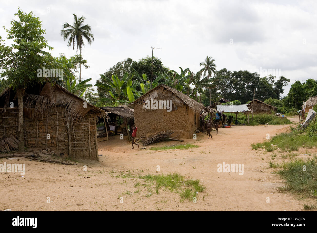 Scenic View Of A Remote Nigerian Village In The Middle Of